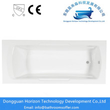 Freestanding hydraulic square bathtub