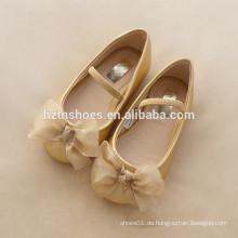 Mädchen Ballett flache Chiffon Material Bogen Kleid Schuhe weiche alleinige Schule Schuhe Kinder