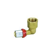 Coude femelle (raccord à pression) (Hz8506) de tuyau en plastique d'aluminium