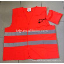 100 % Polyester EN20471 reflektierende Sicherheit Verkehr Westen mit einer Tasche