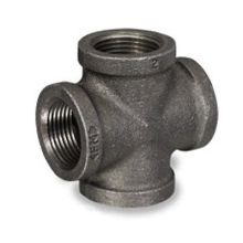 Black Malleable Iron Pipe Threaded Cross