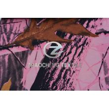 100% 2/2 tela poli con la impresión de Camou del bosque para el chaleco (ZCBP263)