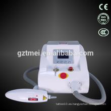 2014 la palabra más caliente de eliminación de tatuajes: q switch nd yag máquina de eliminación de tatuajes láser