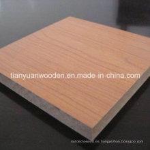 Tablero de partícula chino mejor llano o melamina (QDGL-PB12)