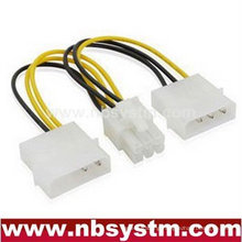 SATA 2x4pin to 6pin power cable