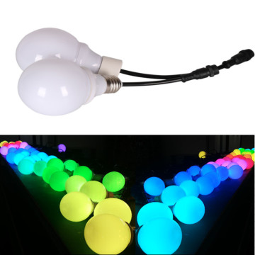 جولة DMX512 SMD RGB 3D LED لمبة الضوء