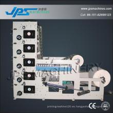Automática de alta velocidad de cinco colores Kraft Paper Roll Printer Machinery