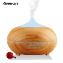 Tipo de humidificador ultrasónico y UR, GS, CE, RoHS, FCC, certificación de la UL USB 300ml Difusor de aroma de aceite de madera del grano de madera