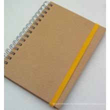 Nuevo cuaderno de espiral de cubierta plástica de estilo