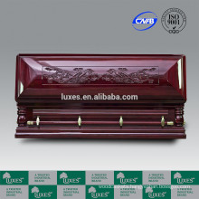 Funeral Service LUXES Best Price Caskets Longevity-Dragon Chinese Carved Wooden Casket