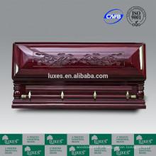 Serviço de funeral LUXES melhor preço porta-longevidade-dragão chinês esculpido o caixão de madeira