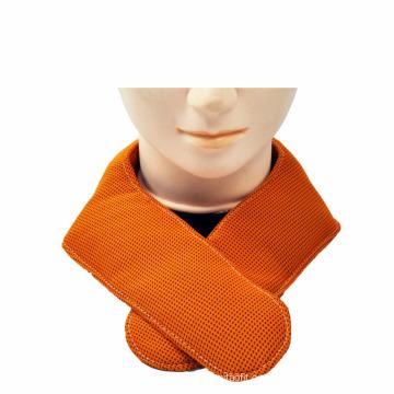 EVERCRYO cuello de paquete de gel de hielo de enfriamiento instantáneo de color naranja con una toalla de enfriamiento rápido