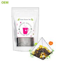 Sacs à thé de pyramide en nylon simplement biodégradables