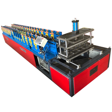 Cold plate roof panel roll forming machine