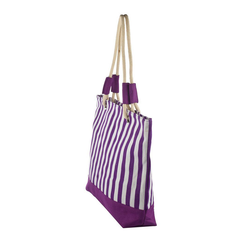 Beach Bag Purple Stripes