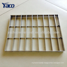 2017 China platform floor galvanized steel grating, best price stainless steel grating steel prices philippines