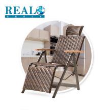 Modern furniture cheap folding steel rattan chair outdoor activity