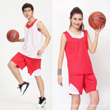 2017 Thaïlande unisexe réversible OEM personnalisé sublimation imprimé basket maillot basketball uniforme hommes sportswear ensembles