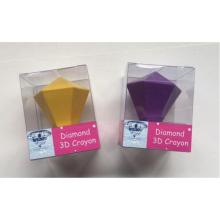 Juego de crayones de cera 3D de diamante de alta calidad