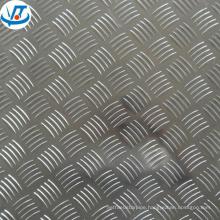 Checkered aluminum sheet 3003 aluminum 5 bar chequered plates for anti-skip flooring