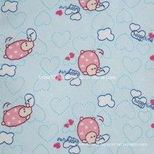 100% tecido de flanela de algodão para vestuário infantil com animal impresso (C20X10 / 40X42)