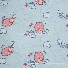 100% хлопчатобумажная фланелевая ткань для детской одежды с животной печатью (C20X10 / 40X42)