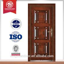 Tipo de portas de segurança e portas de entrada de aço industrial de estilo aberto Swing