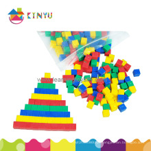 Education Math Toy Plastic Centimeter Counting Cubes
