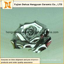 Múltiples colores Electroplate flor de cerámica (decoración del hogar)