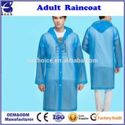 Fashion Women Adult Yelllow Creative EVA Raincoat Waterproof Long Sleeve Coat