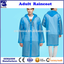 Fashion Women Adult Yelllow Creative EVA Raincoat Waterproof Long Sleeve Coat