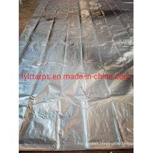 Waterproof Black Silver Polythylene Tarpaulin