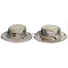 Algodón camuflaje béisbol cubo tapa / sombrero, sombrero flexible