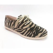Ladies Lace Up Espadrille Platform Sneaker