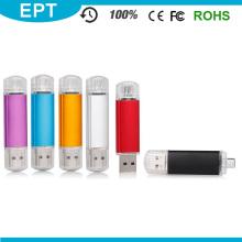 Дешевые красочные пластиковые помады Shaped OTG USB Flash Drive (TJ004)