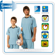 Quick Dry Color Blue Soccer Futsal Wear for Family