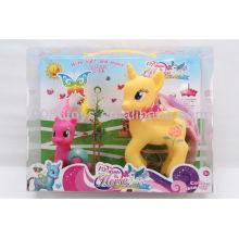 2013 новинка виниловые музыкальные и осветительные конские животные игрушки