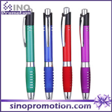 Thick Cheap Plastic Ball Pen with Rubber Holder