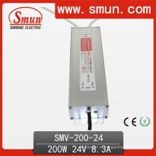 Motorista impermeável do diodo emissor de luz da fonte de alimentação do interruptor IP67 de 200W 24V