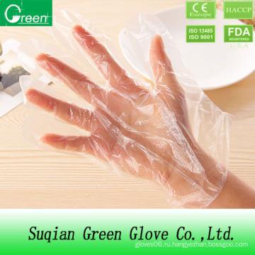 Одноразовые пластиковые перчатки