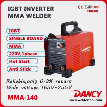 High quality 220V DC MMA Mini Arc Welding Machine ZX7-200 Inverter Welder