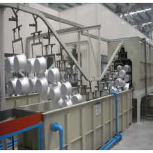 Powder coating production line acts on metal