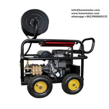 Economic sewer cleaner gasoline engine drive