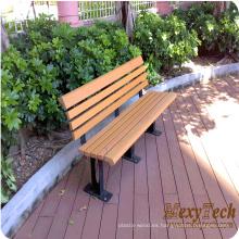 Venta por mayor calle de jardín de madera de plástico al aire libre muebles 1500X600X750mm