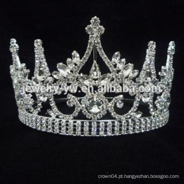 Handmade nupcial branco pérola casamento nupcial tiara