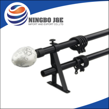 Black Color Double Adjustable Curtain Rods
