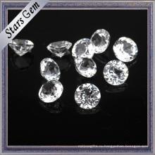 Алмаз Блестящий Круглый Натуральный Белый Топаз Драгоценный Камень Высокое Качество