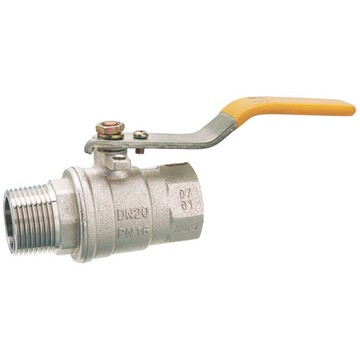 Male Female Lever Nickle Plated Brass Gas Ball Valve