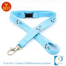 Wholesale High Quality Custom Polyester Neck Printed Woven Nylon Card Holder Keychain Sublimation Webbing Heat Transfer Printing Tubular Lanyard for Students