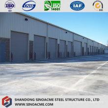 Stahlrahmen-Lager mit Stein-und Glasvorhang-Wand